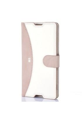 Gpack Sony Xperia M5 Kılıf Deri Cüzdan Kartvizitli