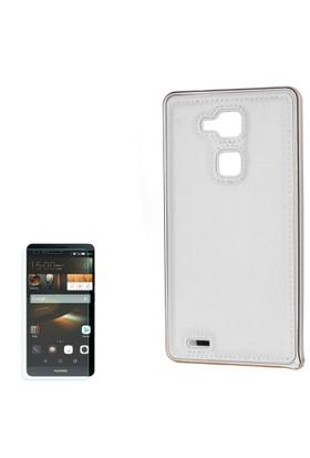 Cep Market Huawei Ascend Mate 7 Kılıf Metal Çerceve + Cam