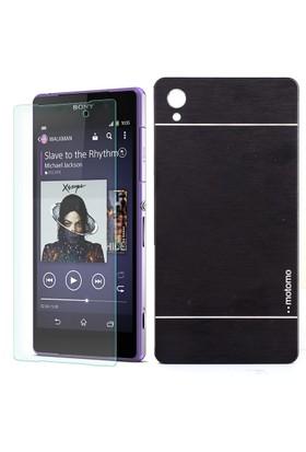 Gpack Sony Xperia Z2 Kılıf Sert Sert Arka Kapak Motomo + Cam