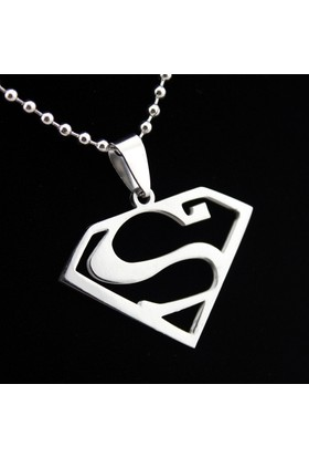 Chavin Gri Çelik Süperman Çelik Erkek Kolye dg25