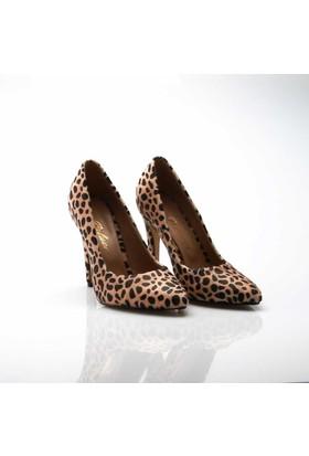Modabuymus Leopar Bayan Stiletto Ayakkabı