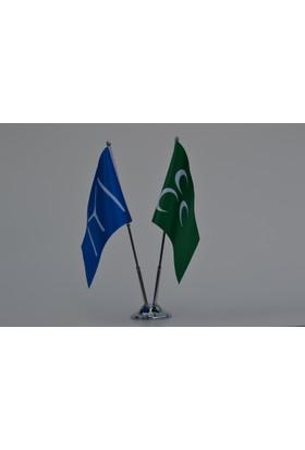 Bayrakal Kayı Boyu ve Osmanlı Bayrağı Masa Bayrak Takımı