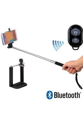 Selfie Çubuğu Monopod Bluetooth Özellikli Kumandalı Kırmızı