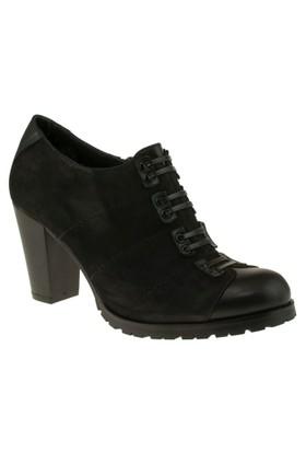 Venus 816809 Bantli Fermuarli Topuklu Siyah Kadın Ayakkabı
