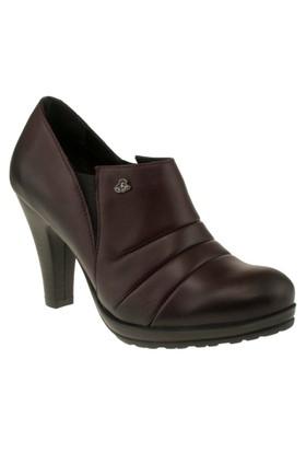 Venus 80307 Flex Bantli Topuklu Bordo Kadın Ayakkabı