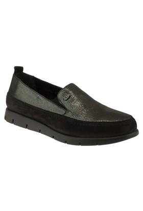 Venus 12250 Mokasen Comfort Siyah Kadın Ayakkabı