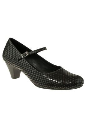 Gess -762 Bilek Tokali Siyah Kadın Ayakkabı