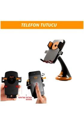 Araç İçi Telefon Tutucu Bas-Bırak Turuncu