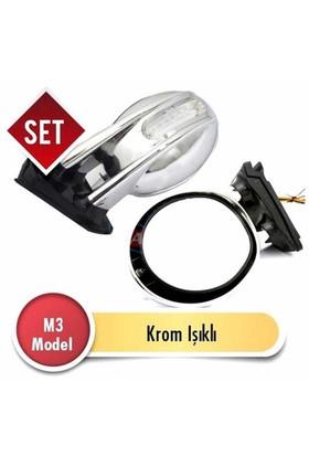 Ayna M3 Model Takım Sinyalli Krom Çerçeve