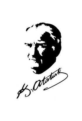 Mustafa Kemal Atatürk Beyaz Resim Ve İmzası 25Cmx15Cm