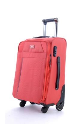 Ground 10356 4 Tekerlekli Kabin Boy Valiz Kırmızı