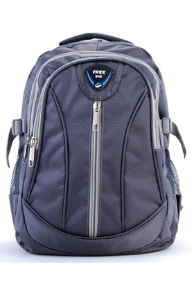 Free Bag Unisex Sırt Çantası Gri