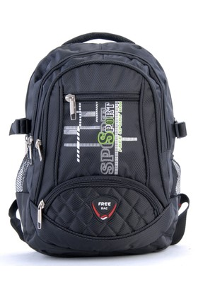 Free Bag Unisex Sırt Çantası Siyah
