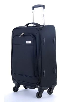 Travelx 4 Tekerlekli Katlanabilir Kabin Boy Valiz Siyah