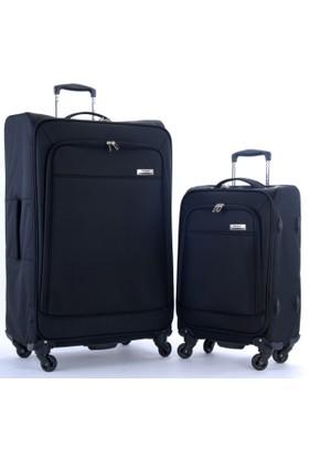 Travelx 4 Tekerli Katlanabilir Büyük Ve Kabin Boy 2'Li Valiz Seti