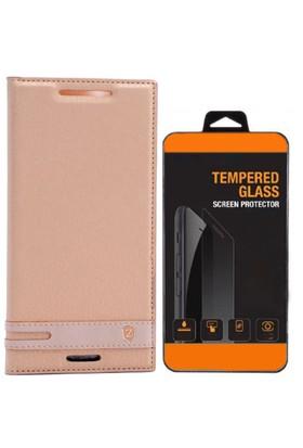 Exclusive Phone Case Lenovo A7010 Kılıf Kapaklı Elite Tempered Glass
