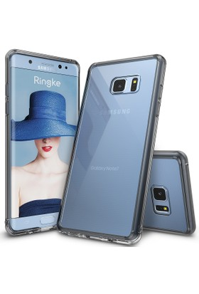 Ringke Fusion Galaxy Note 7 FE Kılıf Smoke Black - TPU Bumper Extra Darbe Emici