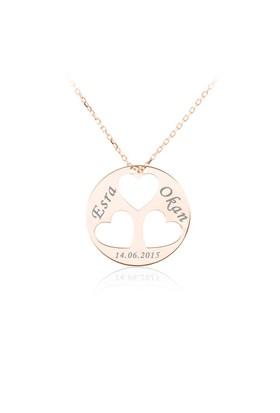 İndigo Takı Rose İsimli Üç Kalp Gümüş Kolye