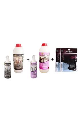 The Solution I-Set Ankastre Inox Paslanmaz Çelik Beyaz Eşya Cam Fırın Ocak Temizleme Seti (Yağ Sökücü Temizleyici Ve Parlatıcı) I-Pro (1Lt) I-Clean (1Lt) Temizlik + Havlu