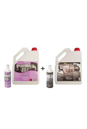 The Solution I-Set Ankastre Inox Paslanmaz Çelik Beyaz Eşya Cam Fırın Ocak Temizleme Seti (Yağ Sökücü Temizleyici Ve Parlatıcı) I-Pro (3Lt) I-Clean (3Lt) Temizlik