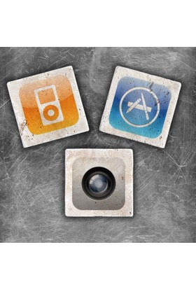 Oscar Stone Apple Icons Magnet