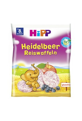 Hipp Organik Pirinçli Yabanmersinli Bebek Gofreti 30 gr