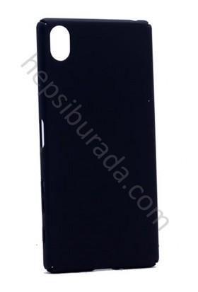 Case 4U Sony Xperia Xa Rubber Arka Kapak Siyah