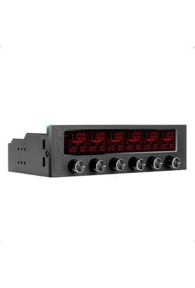 Thermaltake Commander F6 RGB LCD Ekranlı Multi Fan Kontrol Ünitesi AC-024-BN1NAN-A1