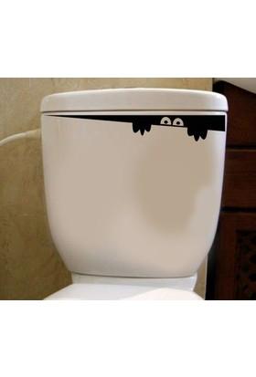 Tuvalet Sticker Siyah Gözler
