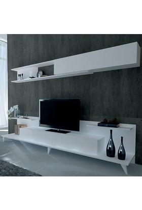 Sanal Mobilya Dore Tv Ünitesi-Beyaz
