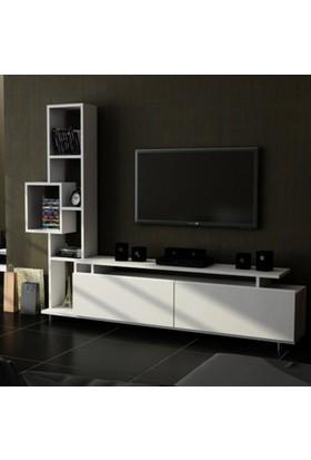 Sanal Mobilya Tulip Tv Ünitesi-Beyaz