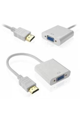 Blueway Projeksiyon Uyumlu HDMI TO VGA Kablo Çevirici Dönüştürücü