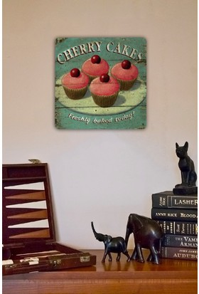 Oscar Stone Cherry Cakes Taş Tablo