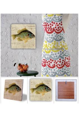 Oscar Stone Balık Doğal Taş Tablo - 20X20 Cm