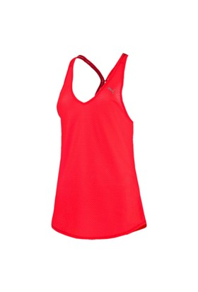 Puma 514475-02 Mesh It Up Layer Tank Red Blast