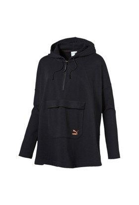Puma 571661-01 Evo Hooded Cape Cotton Black Kadın Sweat