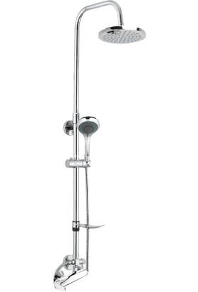 Gpd Sürgülü Duş Seti (5 Fonksiyonlu el duşu+Ø250 duş başlığı+MDU80) DST21