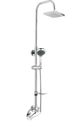 Gpd Sürgülü Duş Seti (5 Fonksiyonlu el duşu+250x250 duş başlığı+MDU80)