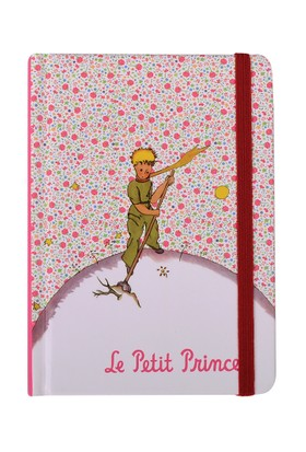 Küçük Prens 9x14 cm - Sert Kapaklı -Lastikli 96 yaprak 4 Farklı Kapak Rengi-Tasarım
