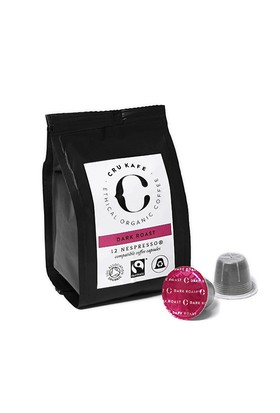 12 Adet Nespresso Uyumlu Organik Kapsul Kahve - Dark (Sertlik: 9)