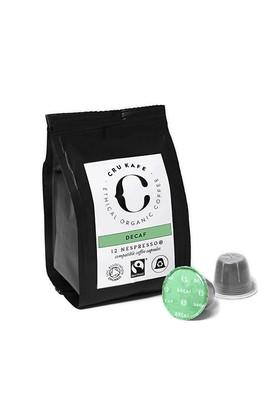 12 Adet Nespresso Uyumlu Organik Kapsul Kahve - Decaf (Sertlik: 5)