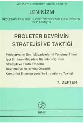 Proleter Devrimin Stratejisi ve Taktiği