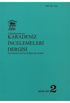 Uluslararası Karadeniz İncelemeleri Dergisi / İnternational Journal Of Black Sea Studies Sayı: 2