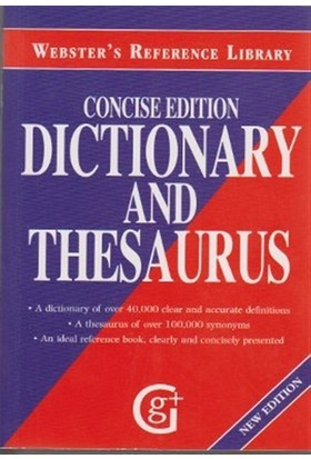 Webster's Reference Library Concise Edition Dictionary and Thesaurus