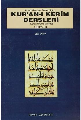 İmam Hatip Liseleri İçin Kur'an-ı Kerim Dersleri - Orta 3