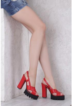 İlvi Browni 7455 Sandalet Kırmızı