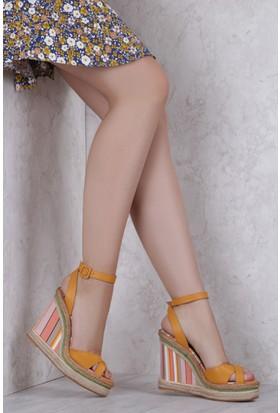 İlvi Esperienza 15627 Sandalet Sarı Multi