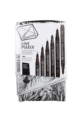 Derwent Graphik Line Maker 6'Lı Set Black Dw2302206