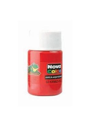 Nova Akrilik Boya Kırmızı Şişe Nc-170