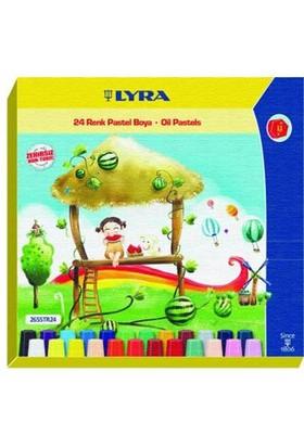 Lyra 24 Renk Pastel Boya Altıgen Karton Kutu